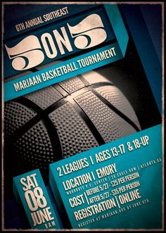 Basketball Tournament flyer design: