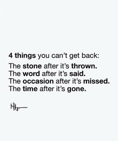 Positive Quotes :    QUOTATION – Image :    Quotes Of the day  – Description  4 things you cant get back..  Sharing is Power  – Don't forget to share this quote !    https://hallofquotes.com/2018/03/09/positive-quotes-4-things-you-cant-get-back-2/