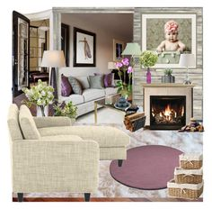 sage and mint by aimbilal on Polyvore featuring interior, interiors, interior design, home, home decor, interior decorating, DIVA, Homelegance, Calvin Klein and Pier 1 Imports