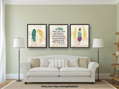 Emily Dickinson, Quote Posters, Feather Art, Inspirational Quote Prints