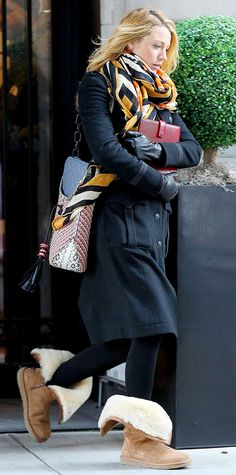 Celebrities in Uggs: The Ultimate It-Girl Rite of Passage - Blake Lively from InStyle.com