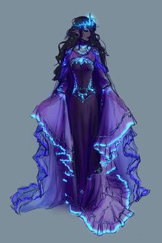 Fantasy characters · elf clothes · dragon rpg · i love the luminous idea would make a pretty painting drawing clothes, dress drawing, Fantasy Character Design, Character Design Inspiration, Character Art, Character Makeup, Dress Drawing, Drawing Clothes, Fantasy Gowns, Fantasy Art, Fantasy Makeup