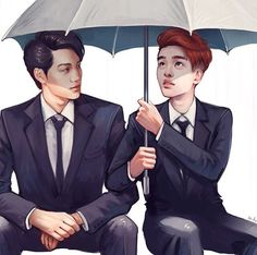 Kai and kyungsoo fanart  Kaisoo