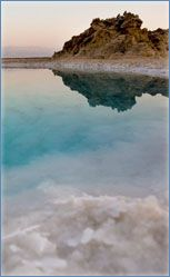 The Dead Sea - - IsraelIn one terrifying moment, an act of G-d turned an oasis into infertile wasteland. Unique geological conditions then combined to form the Dead Sea, a sea that is more than eight times as salty as the oceans. Over the years, the silent desert around this sea became a refuge for spiritual escapists