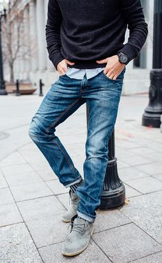Elegant Men's Style Casual Inspiration For Men Looks More Cool Sharp Dressed Man, Well Dressed, Mode Man, Herren Style, Mens Fashion Blog, Men's Fashion, Fashion Boots, Fashion Vintage, Jeans Men Fashion