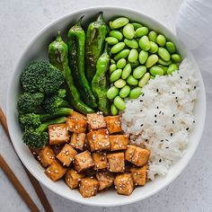 🌱Miso glazed tofu, shishito peppers (another potential culinary curse word.hehe🤫), broccoli, edamame🌱 🌱Shishito peppers are super easy to… Tofu Recipes, Whole Food Recipes, Vegetarian Recipes, Cooking Recipes, Healthy Recipes, Vegetarian Kids, Kid Recipes, Miso Tofu Recipe, Edamame