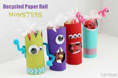 Manualidades con rollos de papel: bolsas de chuches