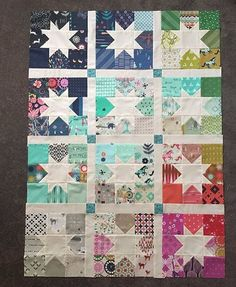 Such a beautiful starry quilt top by Vanessa Wilson! #southernfabric #southernfabriccolor #quilting #quilts