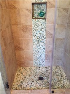 562 Best Bathroom Pebble Tile And Stone Tile Ideas Images Floors - Sea-green-bathroom-tiles