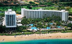 Arial picture of the Westin Maui.  Great pool, great beach, love everything about it!