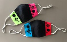 A Japanese Fan Makes Nintendo Switch Face Mask - Nintendo Smash- Nintendo switch the best selling game console Diy Mask, Diy Face Mask, Face Masks, Nintendo Switch Accessories, Pocket Pattern, Fashion Face Mask, Mask Making, Mask Design, Mask For Kids