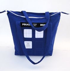 Diaper Bag Large - Doctor Who Tardis Bag with Matching Changing Pad on Etsy, $148.00