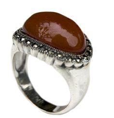 Silver Marcasite Brown Stone Ring (7) Bauyoan http://www.amazon.com/dp/B00D25U424/ref=cm_sw_r_pi_dp_SyJsxb1K6P333
