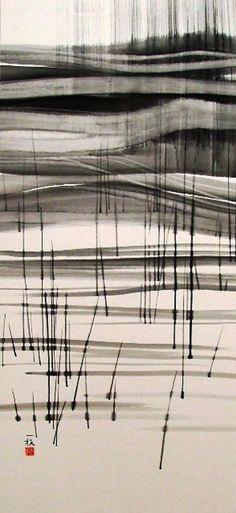 Kuyama Kazue ink painting
