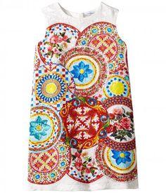Dolce & Gabbana Kids - Mambo Brocade Dress (Toddler/Little Kids) (Carretto Print) Girl's Dress
