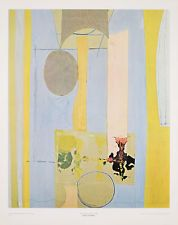 ROBERT MOTHERWELL - MALLARME'S SWAN Vintage Litho 28x22in Abstract Art COA