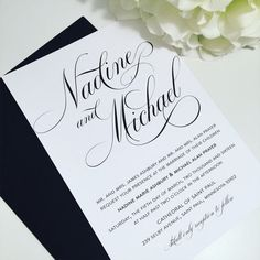 Printable Wedding Invitation Suite, classic wedding invites, black and white wedding invitation, elegant invitations  By MatildaRuthDesigns on Etsy