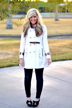 Belted White Coat