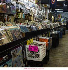 13th: Bleecker Bob's record store. NYC.