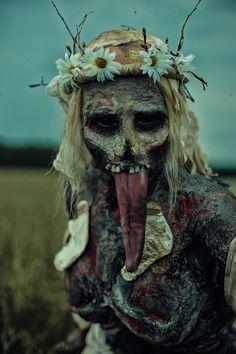 Cosplay by: Elena Samko. The Witcher 3 Wild Hunt The Witcher Books, The Witcher 3, Witcher Art, Arte Horror, Horror Art, Horror Masks, Photomontage, Creepy Art, Creepy Stuff
