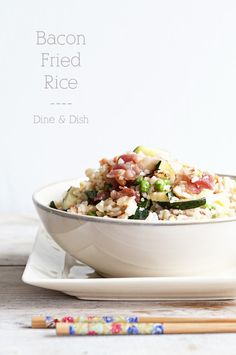Bacon Fried Rice | dineanddish.net