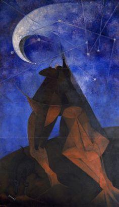Rufino Tamayo, El Hombre (Man), vinyl with pigment on panel, Dallas Museum of Art, Henri De Toulouse Lautrec, Hispanic Art, Mexican Paintings, Dallas Museums, Mexico Art, European Paintings, Vintage Artwork, American Art, American History