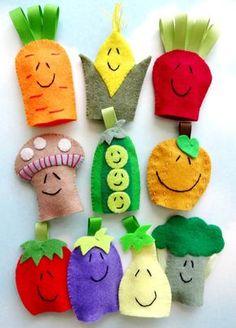 Vegetable Felt Finger Puppets Sewing Pattern PDF ePATTERN