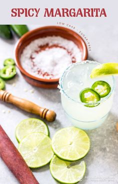 Low-Carb Spicy Margarita