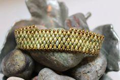 Superduo Band Bracelet Cuff Bracelet Bead by ReggiesCreations