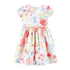 jcp | Carter's® Sateen Floral Dress – Girls 2t-5t