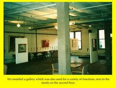There was an adjacent room that doubled as a gallery and function room.