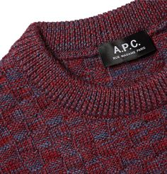 <a href='http://www.mrporter.com/mens/Designers/APC'>A.P.C.</a>'s 'Wexford' sweater is knitted from soft virgin wool yarns in a variety of textures. Cut for a close fit, it's designed in a mélange of red and blue that boosts the visual appeal. Try yours over a chambray shirt.