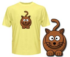 Cat T Shirts - Cute Cat - Wuggle.co.uk - £9.99