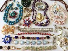 Hi End Vintage Designer Rhinestone Jewelry Lot. Juliana, Weiss, Austria, Coro ++