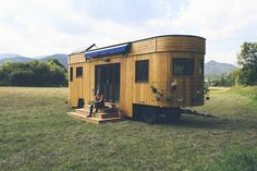 Few tiny mobile homes are as sustainable as the ones made by the Austrian firm Wohnwagon. It specializes in constructing trailer homes, which can function completely off-the-grid. They make great vacation homes, offices, guest houses, or even full-time residences.