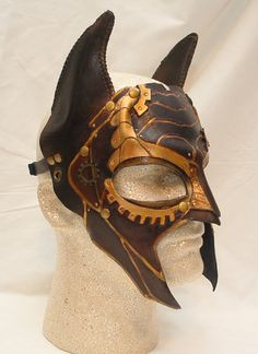 Steampunk Batman Leather Gothic Bat Cosplay by PlatyMorph on Etsy