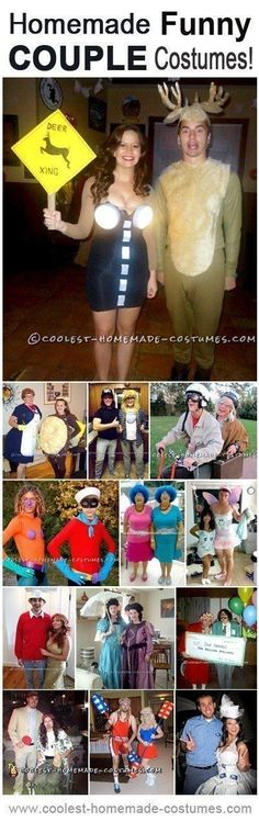 Halloween is the perfect holiday for couples to bond, and plus, a two person costume is twice as awesome. Enjoy these DIY funny couples costumes!