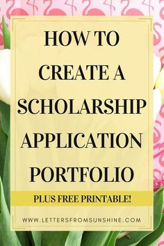 Applying to scholarships can be extremely overwhelming, but it doesn't have to be if you have a prepared portfolio on hand! Today I am walking you through the steps of creating your own portfolio that will help you with applying to scholarships.and mayb Grants For College, Financial Aid For College, College Fund, College Planning, Online College, Scholarships For College, Education College, College Hacks, College Students