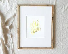 Olive You! Print (sans olive) #lindsaylettersshop