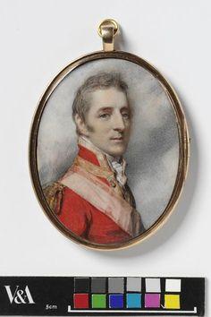 """Portrait of Arthur Wellesley, later 1st Duke of Wellington"" by Richard Cosway (1808) at the Victoria and Albert Museum, London - From the curators' comments: ""This portrait of Arthur Wellesley, later 1st Duke of Wellington, and one of the most well-known faces of the early 19th century, is testament to Cosway's ability. It is a face marked by character, full of bird-like analogies--the eagle-eye and hawk-nose--self confident, but handsome rather than predatory."""