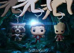 Guardians of the Galaxy Vol 2 POP! Keychains