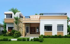 Rey – Four Bedroom One Storey with Roof Deck (SHD-2015021)   Pinoy ePlans - Modern House Designs, Small House Designs and More!