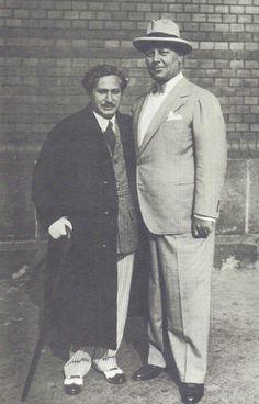Berlin, Josef von Sternberg mit Emil Jannings 1930.