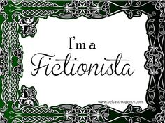 I'm a Fictionista!  Great book display idea and tag line.