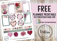Free My Love Planner Stickers   Victoria Thatcher