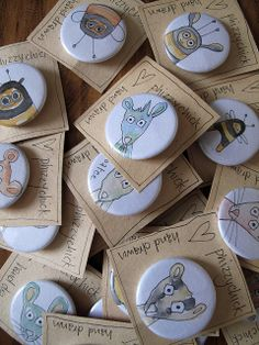 "Who wouldn't love a one-of-a-kind handmade button? Can you say, ""Happy Grandparent's Day""?"