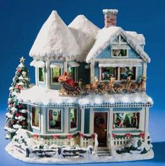 Christmas Villages Under the Tree   Christmas Village house for under the tree