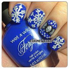snowflakes by elaineqxoxo #nail #nails # - http://yournailart.com/snowflakes-by-elaineqxoxo-nail-nails/ - #nails #nail_art #nail_design #nail_polish