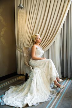 bride in wedding dress / by dina chmut photography / / The Nines Hotel, Portland OR