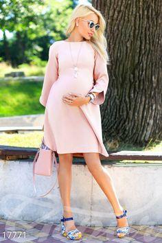 Rochie pentru gravide roz pal